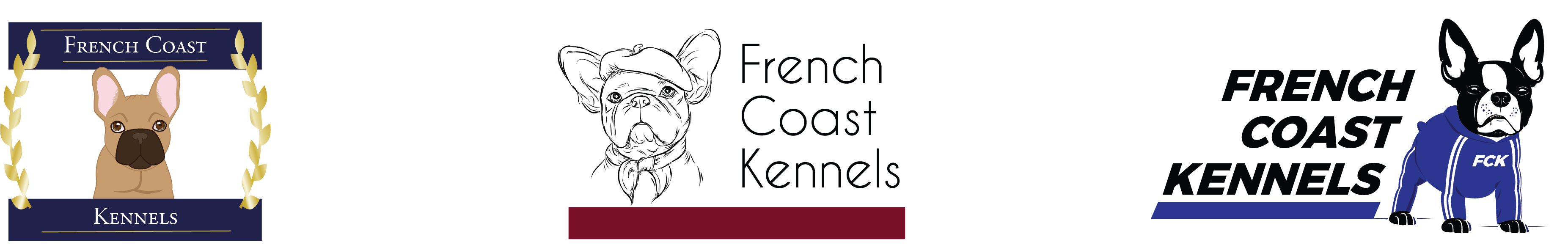 French Coast Kennels logo design