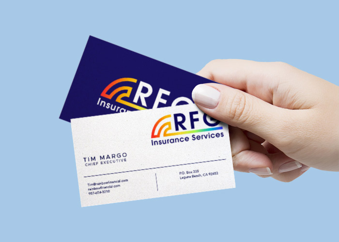 RFG Insurance Services business card design